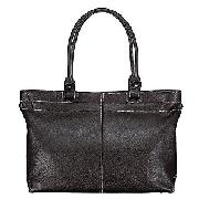 Black Leather Workbag, Black