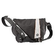 Crumpler Cheesy Disco Laptop Messenger Bag, Black/Grey