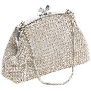 Crystal Evening Bag, Silver