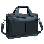 Delsey Uptown Pc Compatible Expandable Satchel, Anthracite Grey