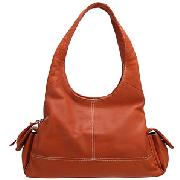 John Lewis Large Hobo Bag, Pumpkin