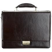 John Lewis Leather Hard Folio, Brown