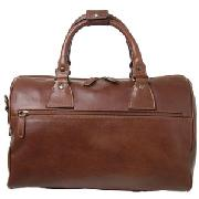 John Lewis Leather Travel Bag, Tan, Small