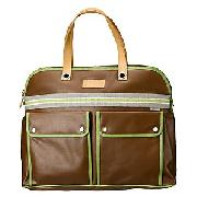 Orla Kiely Small Weekend Bag, Brown