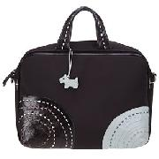 Radley Circle Patch Business Bag, Black/Blue