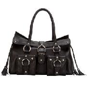 Ri2k Bridgitte Shoulder Bag, Black