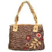 Tula Java Applique Classic Tote Bag, Chocolate