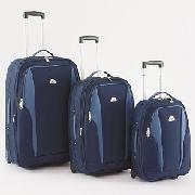 Beverly Hills Polo Club - 3-Piece Navy/Ice-Blue Eva Luggage Set