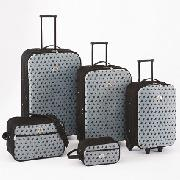 Beverly Hills Polo Club - 5-Piece Embossed Luggage Set
