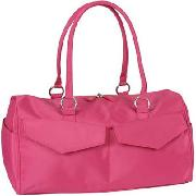 Agoy Fuchia Pink Micro Fibre Day Gym Bag