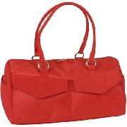Agoy Red Micro Fibre Day Gym Bag