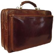 Chiarugi Leather Briefcase (Two Compartments)