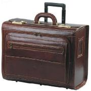 Chiarugi Leather Wheeled Business Briefcase