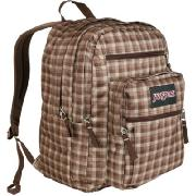 Jansport Big Student - Large Backpack In Classic Tan Gingham Plaid