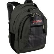 Jansport Essence Updated with Laptop Sleeve Carbonic Grey/Stan Plaid Print
