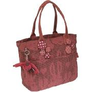 Kipling Toppy Medium Tweed Bunny A4 Shoulder Bag