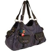 Nica Woody Large Contrast Pocket Tote Bag