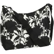 Oioi Black and White Floral Print Hobo