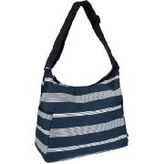 Oioi Nautical Stripe Navy Blue Hobo