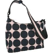 Oioi Pink Ink Dot Canvas Hobo