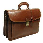 Pellevera Leather Briefcase