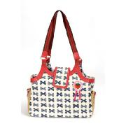 Pink Lining Boho Tote In Blue/White Laminate