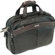 Enzo Rossi Royal Nappa Briefcase In Italian Royal Nappa Leather