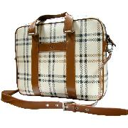 Oi Garbo Ladies Check Laptop Bag