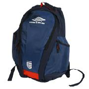 England Umbro Large Back Pack - Insignia Blue/White/Ink Red
