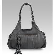 Autograph Leather Twist and Tassel Tote Bag