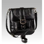 Cross-Over Single Buckle Satchel