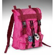Older Girls' Hot Pink Badge Rucksack