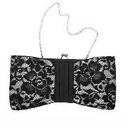 Debut - Black and Ivory Lace Shoulder Bag
