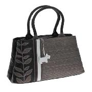 Radley - Black Applique Medium Grab Bag