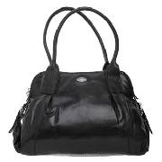 Modalu - Black Gathered Shoulder Bag