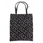 Pineapple - Black Glitter Shopper Bag