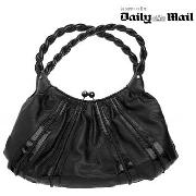 Star by Julien Macdonald - Black Plait Handle Scoop Bag