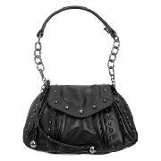 John by John Richmond - Black Studded Shoulder Bag