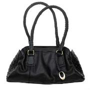 Rocha.John Rocha - Black Woven Detail Small Shoulder Bag