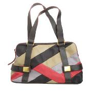 Butterfly by Matthew Williamson - Brown, Cream and Pink Patchwork Shoulder Bag