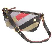 Butterfly by Matthew Williamson - Brown, Cream and Pink Patchwork Small Shoulder Bag