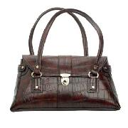 Liz Claiborne - Brown Mock Croc Shoulder Bag