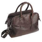 St George by Duffer - Brown Three-Zip Holdall