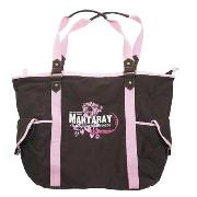 Mantaray - Brown with Pink Trim Shoulder Bag