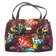 Butterfly by Matthew Williamson - Chocolate Flower Embroidered Bowling Bag