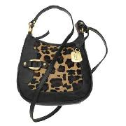Betty Jackson.Black - Chocolate Leopard Print Cross Body Bag
