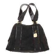 Betty Jackson.Black - Chocolate Suede Tote Bag