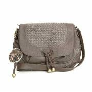 Nica - Chocolate Woven Cross Body Bag