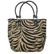 Debenhams Collection - Cream and Black Zebra Print Tote Bag