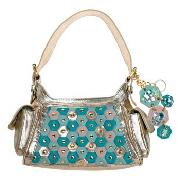 Butterfly by Matthew Williamson - Gold and Turquoise Mini Hexagon Shoulder Bag